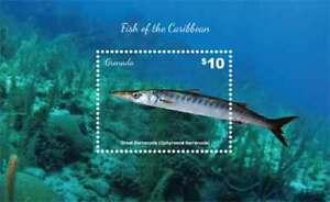 Grenada - 2015 - Fish Of The Caribbean - Souvenir Sheet - MNH