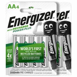 Energizer AA Power Plus 2000 mAh Rechargeable batteries 1.2V NiMh Accu HR6