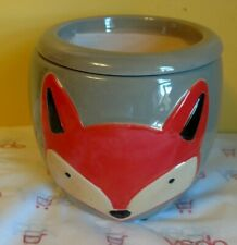 Wonderful African Violet Flower Pot pots New Gray Orange Fox, front & back