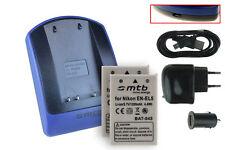 2x Baterìas + USB Cargador EN-EL5 para Nikon Coolpix P90, P100, P500, P510, P520