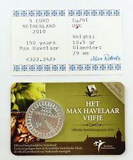 #e7389 5-Euro-Münze Niederlande 2010, 150 Jahre Max Havelaar mit Zertifikat