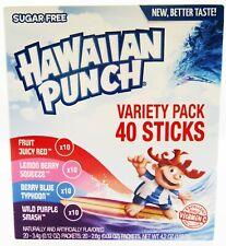 Hawaiian Punch Variety ~ 40 Packets ~ Sugar Free ~ Drink Mix