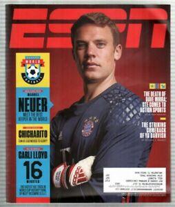ESPN Magazine June 6, 2016 World Football UEFA Euro Manuel Neuer Bayern Munich