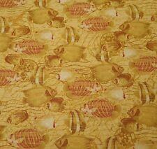 Tropical Travelogue Bty Graphic 45 Wilmington Tonal Tonal Golden Tan Fish