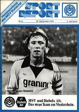 DFB-Pokal 78/79 MSV Duisburg - Arminia Bielefeld, 23.09.1978 - Hans-Werner Moors