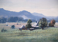 MICHAEL McCARTHY - BEAUTIFUL OIL PAINTING - 'FARMHOUSE', SIGNED, FRAME