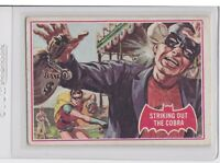 1966 Topps Batman A Series Red Bat Logo #27A Striking out the Cobra Card
