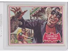 1966 Topps Batman A Series Red Bat Logo #27A Striking out the Cobra Card