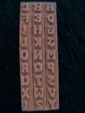 "Stamping & Cardmaking Rubber Stamps A-Z 1/2"" Alpha Fonts 4, alphabet"