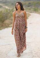 LA REDOUTE maxi Printed long Dress with crochet detail  size UK 4 & 6