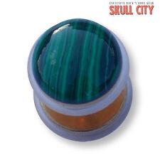 Malachit ORO Gemstone Fakeplug-Fake piercing Stone Plug Orecchini Ear pietra