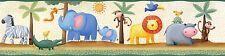 Jungle Wall Border Stickers Animals Zoo Wallpaper Room Decor Decals Lion Zebra