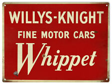 Willys-Knight Whippet Fine Motor Cars Advertisement Sign