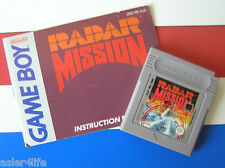 RADAR MISSION + INSTRUCTION BOOKLET - GAME BOY - GB