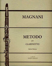 MAGNANI METODO PER CLARINETTO quinta edizione a cura di BORALI EDIZIONI CURCI