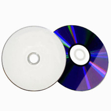 100 16X Blank DVD-R White Inkjet HUB Printable Disc FREE PRIORITY MAIL SHIPPING!