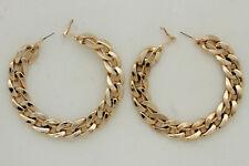 Sexy Women Huge Hoop Earrings Set Fashion Jewelry Shiny Gold Chain Thick Links