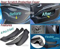 Carbon Inside Door Cover Scratch Protector 4Pcs Black for Hyundai Kona 2018~2021