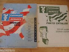 Evinrude Service Manual & Parts Catalog 1976 200 Hp Model 200649 200640 Outboard