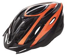 Casco de Ciclismo Deportivo Negro Naranja para Bicicleta Carretera Road MTB 3490