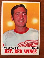 1970/71 Topps Hockey Card #21 Roy Edwards Detroit Red Wings EX