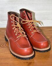 NEW RED WING 8175 CLASSIC WORK MOC-TOE ORO RUSSET PORTAGE LEATHER SZ 9.5 E USA