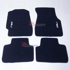 Fit 92-95 Honda Civic 2Dr 4Dr Black Nylon Floor Mats Carpets EJ EJ1 EG EH EK
