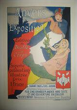EVENEPOEL - ANVERS et son Exposition - 19ème - LITHOGRAPHIE Affiche
