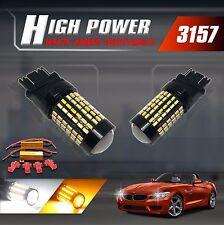 3157 High Power Switchback Amber/White 3014 120-LED Turn Signal Lights Resistors