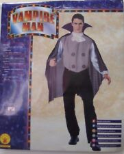 HALLOWEEN COSTUME, VAMPIRE MAN, CAPE WITH 'SHIRT, PANTS ALL IN ONE' STD SIZE