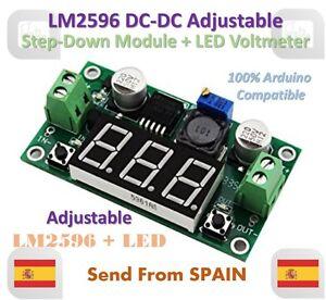 LM2596 Dc-Dc Adjustable Step-Down Power Module+LED Voltmeter Dc / Dc