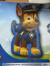 "Paw Patrol Nickelodeon Chase Police Officer 31"" Balloon Foil Blue Supershape"