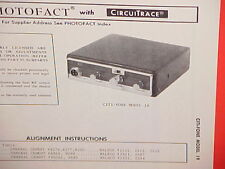 1970 CITI-FONE CB RADIO SERVICE SHOP MANUAL MODEL 19