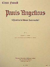 Partition pour voix - César Franck - Panis Angelicus