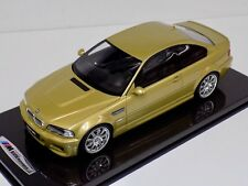 1/12 Otto GT Spirit BMW M3 E46 in Phoenix Yellow G025 Carbon Fiber Base and top