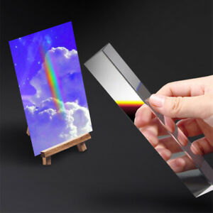 40*40*180mm Rainbow Spectrum Optical Glass Triangular Prism Physics Teaching