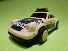 EVERBRIGHT 9111 PORSCHE 911 POLICE CAR PULL BACK PLASTIC 1:43? - GOOD CONDITION