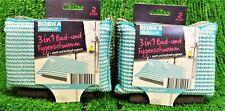 1,98€/Stück) 2x EDEKA Zuhause 3in1 Bad- und Fugenschwamm 2-er PK ideal für Fugen