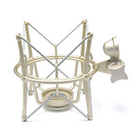 Golden Microphone Shock Mount Studio Large Metal Mic Spider Holder for Blue Rode