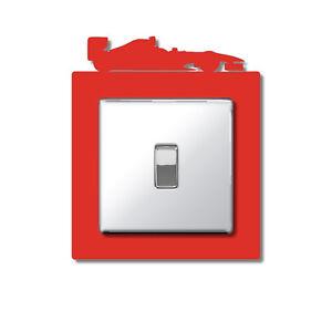 F1 Single Light Plug Socket Switch Surround Finger Plate Panel Formula One Car