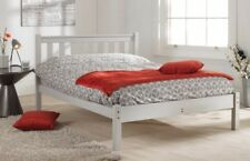 FAST AND FREE DELIVERY 4FT 6IN SHAKER PAINTED GREY LOW FOOT END BED