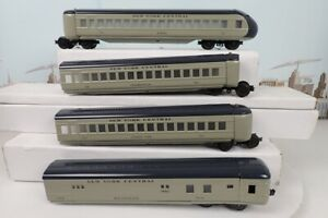 Pride Lines O Gauge New York Central 4 Car Streamliner Passenger Car Set