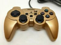 Hori Analog Shindou Pad Controller PlayStation PS1,PS2 Gold Working