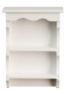 White Wall Shelf, Dolls House Miniature Room Furniture, Shelving