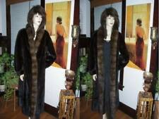 Mint Blackglama Ranch Mink and Russian Sable Fur Coat