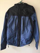 REI Mens Large Dusty Blue Black Snowboard Skiing Winter Hooded Zip Up Jacket