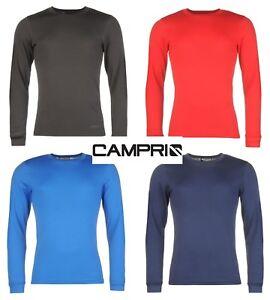 Mens CAMPRI Skiing Base Layer Thermal Long Sleeve Top/Shirt Breathable S - XXL