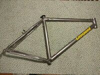 Litespeed Obed medium TITANIIUM mountain bike frame, awesome 1990s bling!
