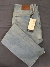 NWT BURBERY Brit Herren Classic Straight Light Indigo Jeans Größe 32x32