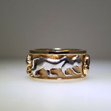 HANDCRAFTED 14KT SOLID GOLD PANTHER RING